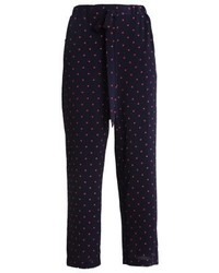 Anna Field Trousers Navyred