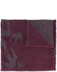 Mcq alexander mcqueen swallow jacquard scarf medium 1153033