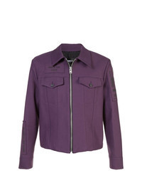 Dark Purple Shirt Jacket