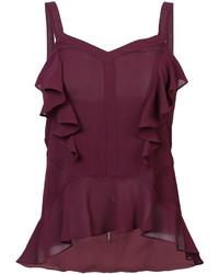 Dark Purple Silk Sleeveless Top