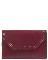 Angle studded leather convertible clutch medium 746593
