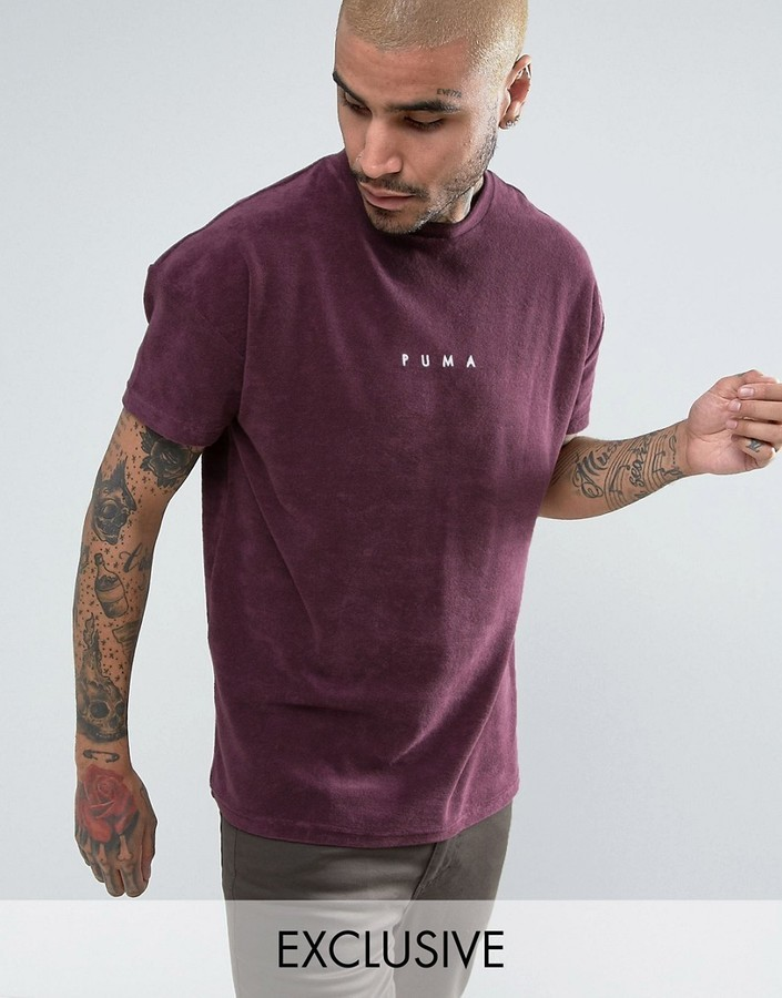 98c92bf4c02 Puma Towelling T Shirt In Purple To Asos 57533304, £33   Asos ...