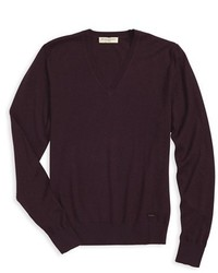 Burberry London Kingsfold Slim Fit Cashmere V Neck Sweater