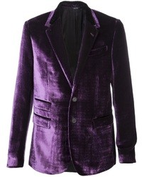 Dark Purple Velvet Blazer