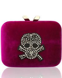 Dark Purple Velvet Clutch