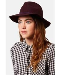 Dark Purple Wool Hat