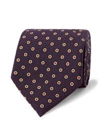 Dark Purple Wool Tie