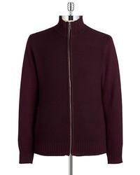 Dark Purple Zip Sweater