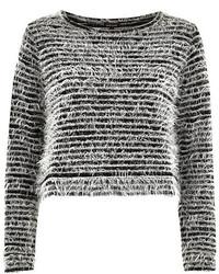 Fluffy Crew-neck Sweater