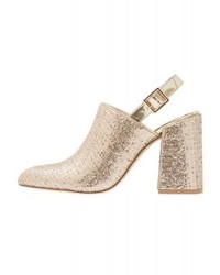 Shellys London Dawn High Heeled Ankle Boots Gold