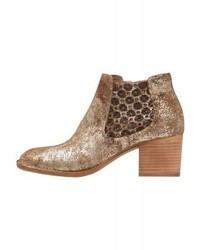 Felmini Tau Ankle Boots Gold Cingynairobitesta Di Moro