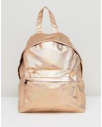 Asos Textured Metallic Backpack