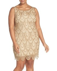 Pisarro Nights Plus Size Beaded Sheath Dress
