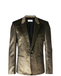 Saint Laurent Metallic Single Breasted Blazer