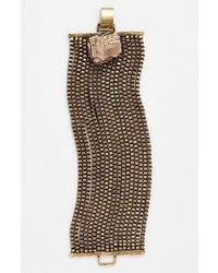 Leith Chain Cuff Bracelet Burnished Gold