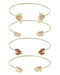 Only Onlravit 4 Pack Bracelet Gold Colour Coloured