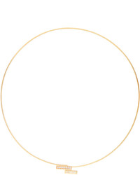 Azlee White Light Diamond Yellow Gold Choker