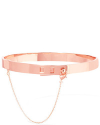 Eddie Borgo Safety Chain Rose Gold Plated Choker One Size