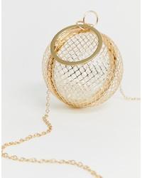 ASOS DESIGN Cage Sphere Clutch Bag