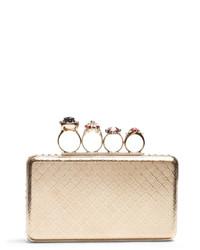 Alexander McQueen Jewel Rings Metal Knuckle Clutch