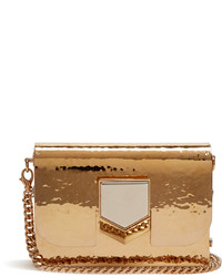 Jimmy Choo Lockett Minaudire Hammered Metal Clutch