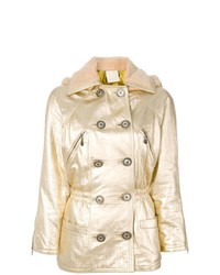 Versace Vintage Metallic Hooded Coat