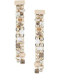 Lanvin Embellished Chain Earrings