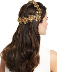 Makayla Golden Coronet Headband