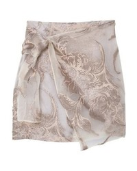 Mango Wrap Skirt Gold