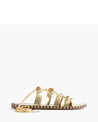 J.Crew Studded Lace Up Gladiator Sandals