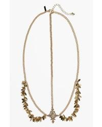 Topshop Golden Leaf Head Chain