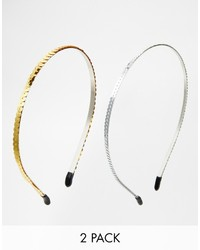 Asos Collection Limited Edition Pack Of Two Sequin Headbands