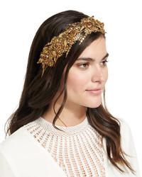 Jennifer Behr Headpieces Marisol Metal Bandeaux Headband