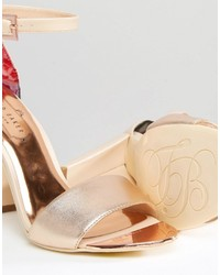 182dd855111 ... Ted Baker Pink Metallic Block Heel Sandals ...