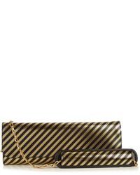 Balenciaga Pochette M Striped Leather Clutch