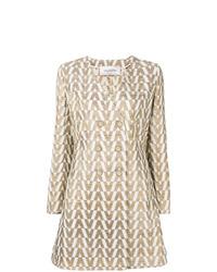Valentino Jacquard Knit Brocade Coat