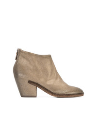 Del Carlo Chunky Mid Heel Ankle Boots