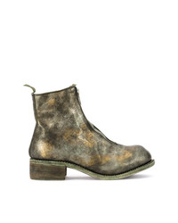 Guidi Distressed Zipped Boots
