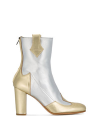 Kalda Silver Gold Lou 95 Leather Boots