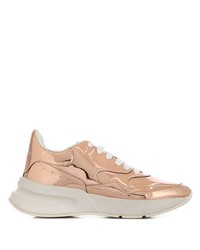 Alexander McQueen Reflective Lace Up Sneakers