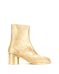 Gold Leather Chelsea Boots