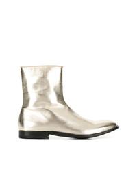 Alexander McQueen Metallic Ankle Boots