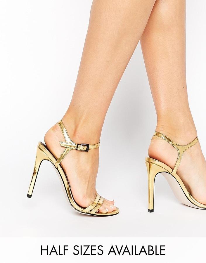 84470e48fcc ... Asos Collection Haphazard Heeled Sandals ...