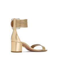 Aquazzura Gold Casablanca 50 Sandals