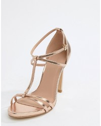 New Look Metallic T Bar Sandal