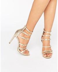 Nandra buckle strap leather platform heeled sandals medium 967022