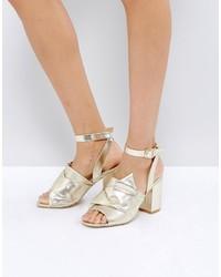 Park Lane Oversized Knot Front Heel Sandal