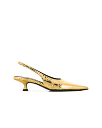 MM6 MAISON MARGIELA Slingback Kitten Heel Pumps