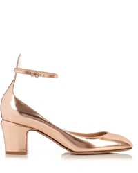 Valentino Tan Go Leather Pumps