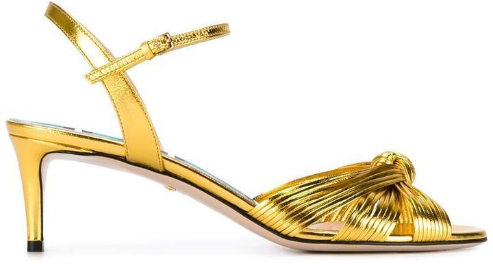 8d1fc9199bda3a ... Gucci Knot Front Sandals